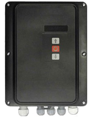 Three-phase control panel compatible with all motors